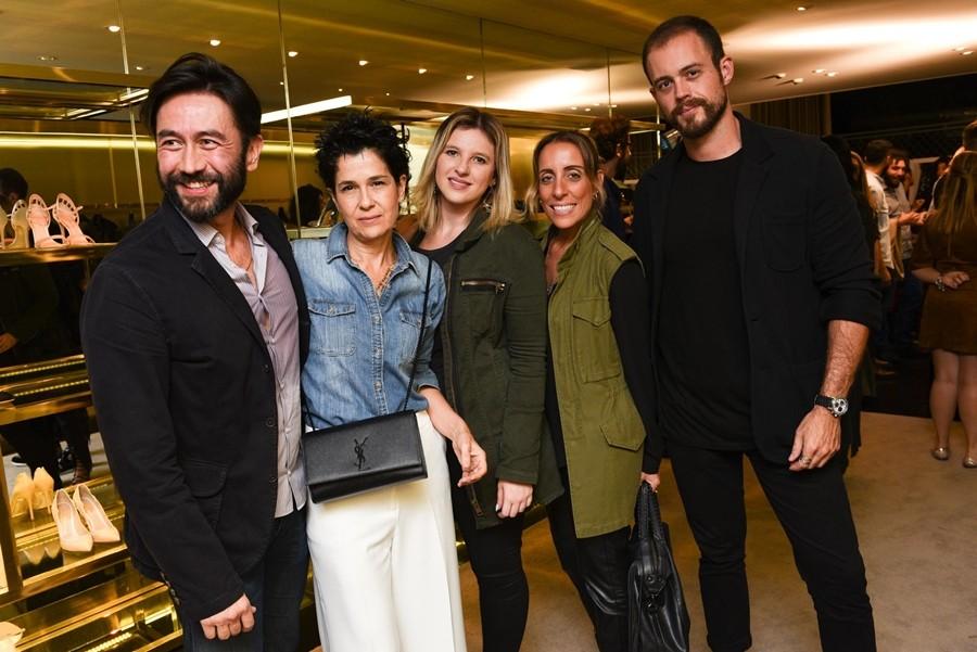 Celso Ieiri, Nano de Fraia, Giselle Trevisan, Sandra Bizantino e Stefano Semionato (foto: divulgação)