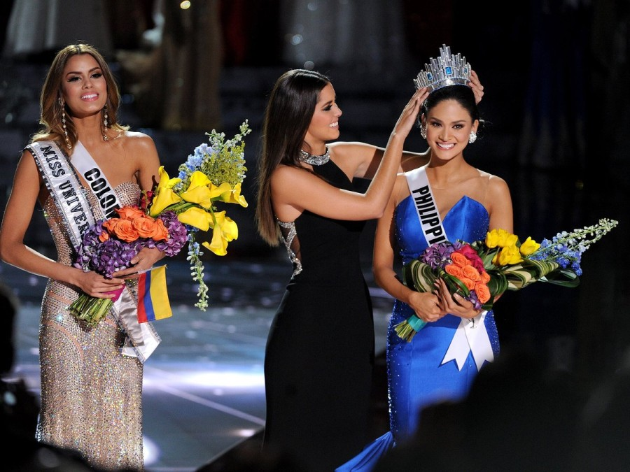 Miss Colombia e Miss Filipinas (foto: divulgação)