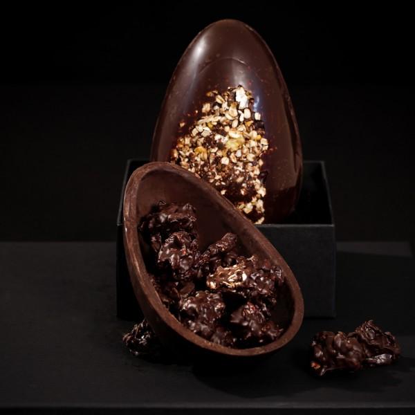 Pecadille - chocolate 70% cacau aromatizado com gengibre e canela, com crocante de granola artesanal Twins Granola (R$ 109,00). com 480kcal em 100g (Foto: divulgação)