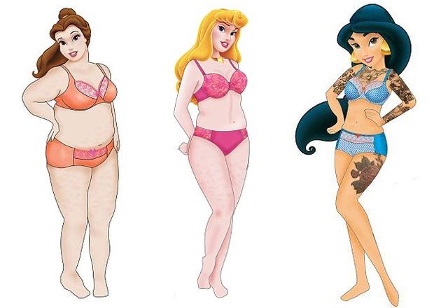 Bella, Aurora e Jasmine ganham corpos mais reais (foto: divulgação)