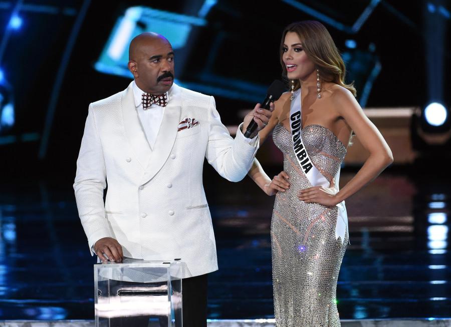 Miss Colombia fez até discurso de agradecimento (foto: divulgação)