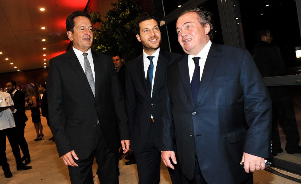 Arthur Repsold, Damien Timpério e Olivier Ginon (Foto: Divulgação)