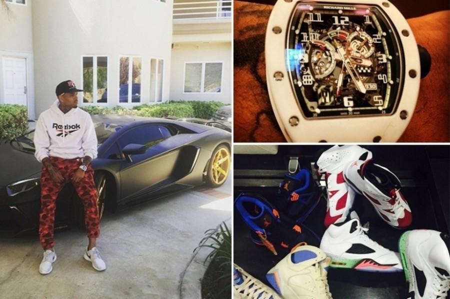 hris Brown - Outro apaixonado por carros e relógios. faz sucesso com suas fotos super produzidas no Instagram (Foto: Divulgação)