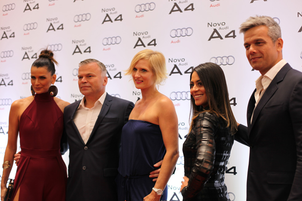 Presidente da Audi recebe convidados no lançamento do Audi A4 (Foto: Nair Barros/ Clacrideias)