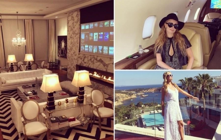 Paris Hilton é conhecida por seu estilo de vida nada discreto. Em seu Instagram, Paris faz questão de mostrar sua rotina e também detalhes de sua mansão, em Beverly Hills, na Califórnia (Foto: Divulgação)
