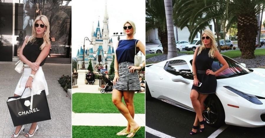 Val Marchiori - viagens, roupas de grife e carrões fazem parte de sua rotina, postada com frequência no Instagram (Foto: Divulgação)