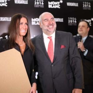 Alain dos Santos com a executiva Patrícia Semeoni (Foto: Nair Barros)