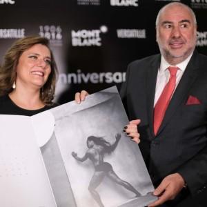 Carla Ramos com Alain dos Santos (Foto: Nair Barros)