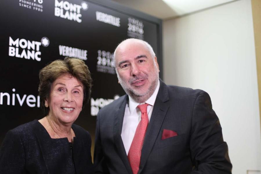 A ex-tenista Maria Esther Bueno com Alain dos Santos (Foto: Nair Barros)