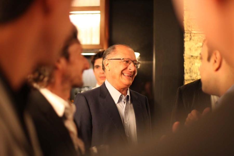Geraldo Alckmin na Casa Cor São Paulo 2016 (Foto: Nair Barros)