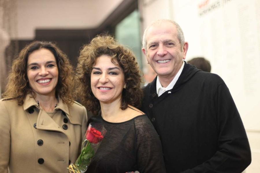 Patricia Gasppar ao centro (Foto: Nair Barros)