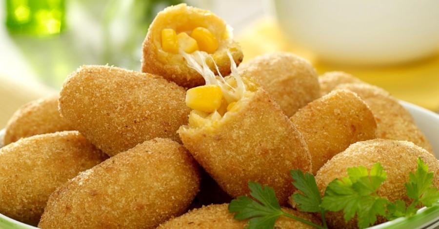 Coxinha de milho será vendida em porções de 12 unidades (Foto: Divulgação)