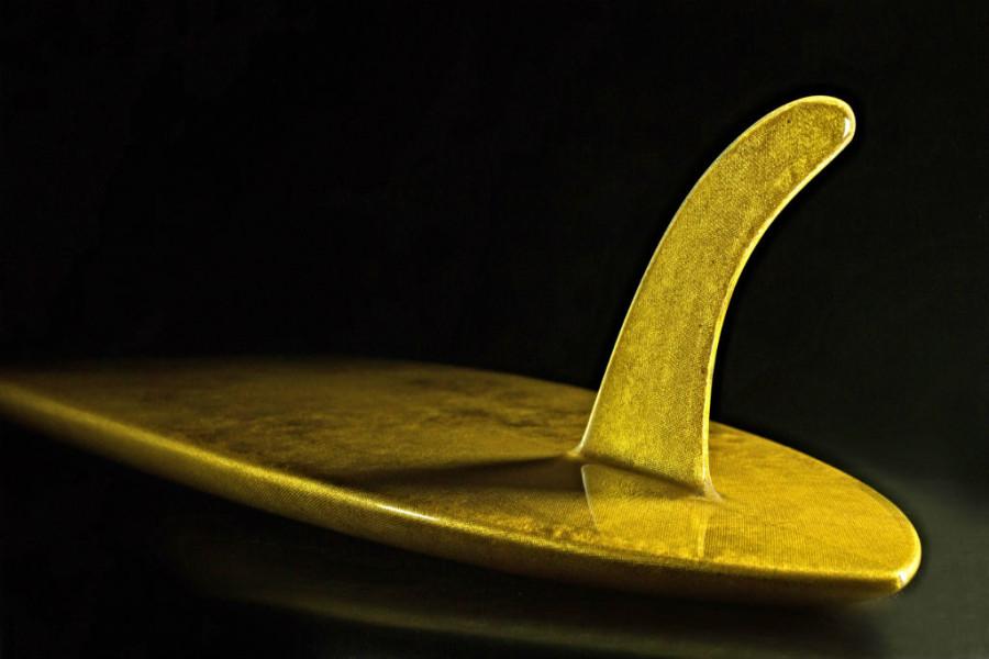 A prancha é toda banhada em ouro 24 quilates (Foto: Divulgação)