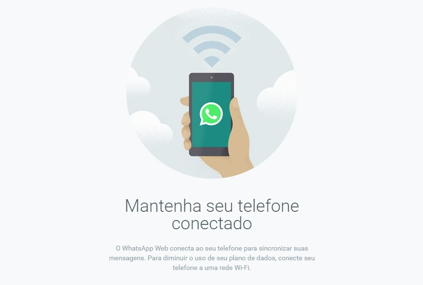 O celular deve permanecer conectado por Wi-Fi ou redes móveis (Foto: Reprodução)