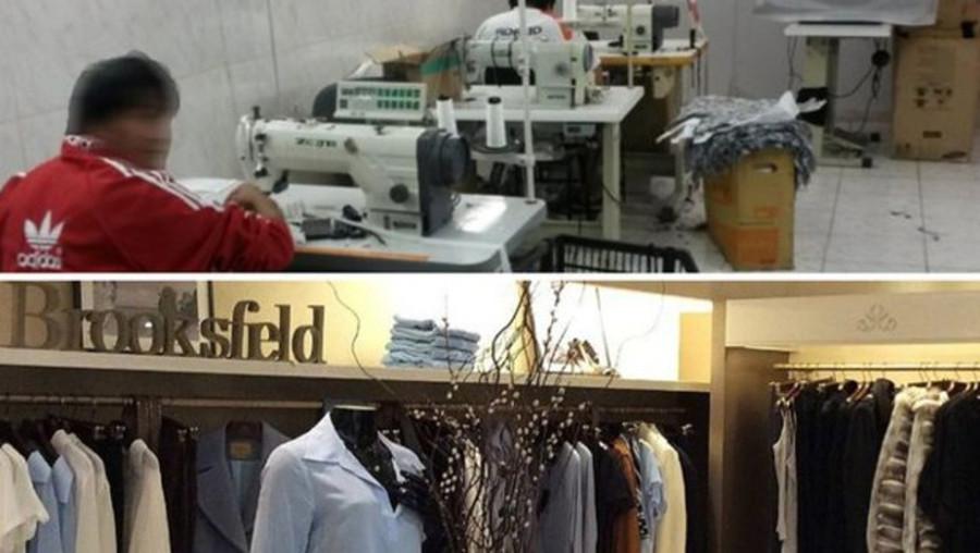 Oficina onde bolivianos trabalhavam (Foto: Divulgação)