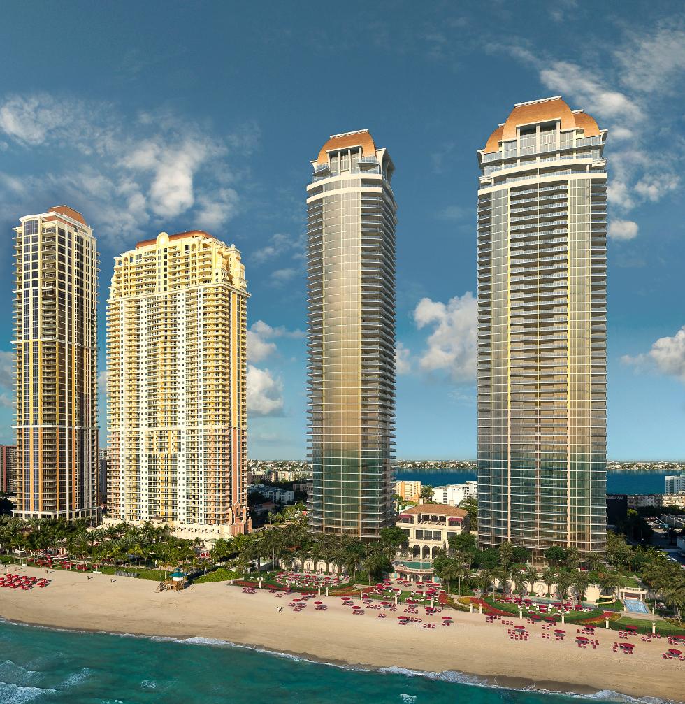 Torres residenciais em Acqualina terão assinatura de Karl Lagerfeld (Foto: Divulgação)