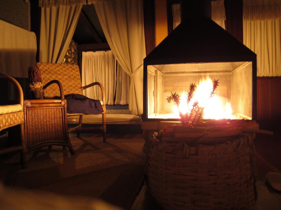 Sala aquecida durante o inverno (Foto: Divulgação)