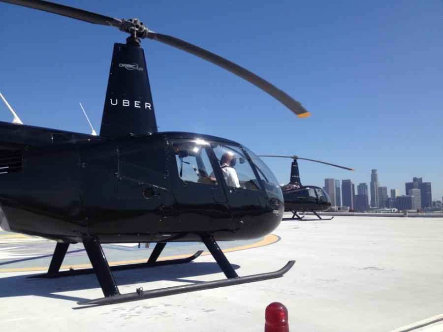 Serviço de helicóptero da Uber ainda está em fase piloto (Foto: Divulgação)