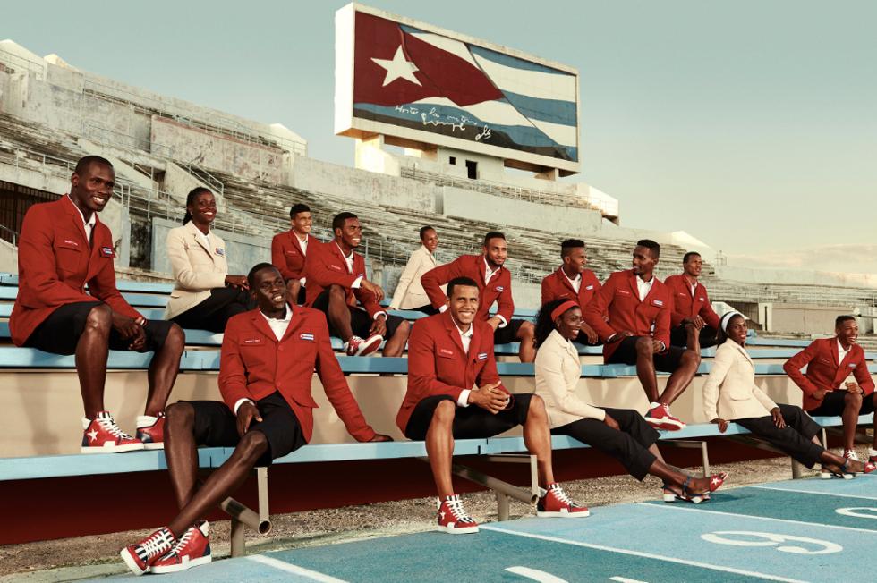 Christian Louboutin e ex-atleta criam coleção para delegação cubana (Foto: Divulgação)