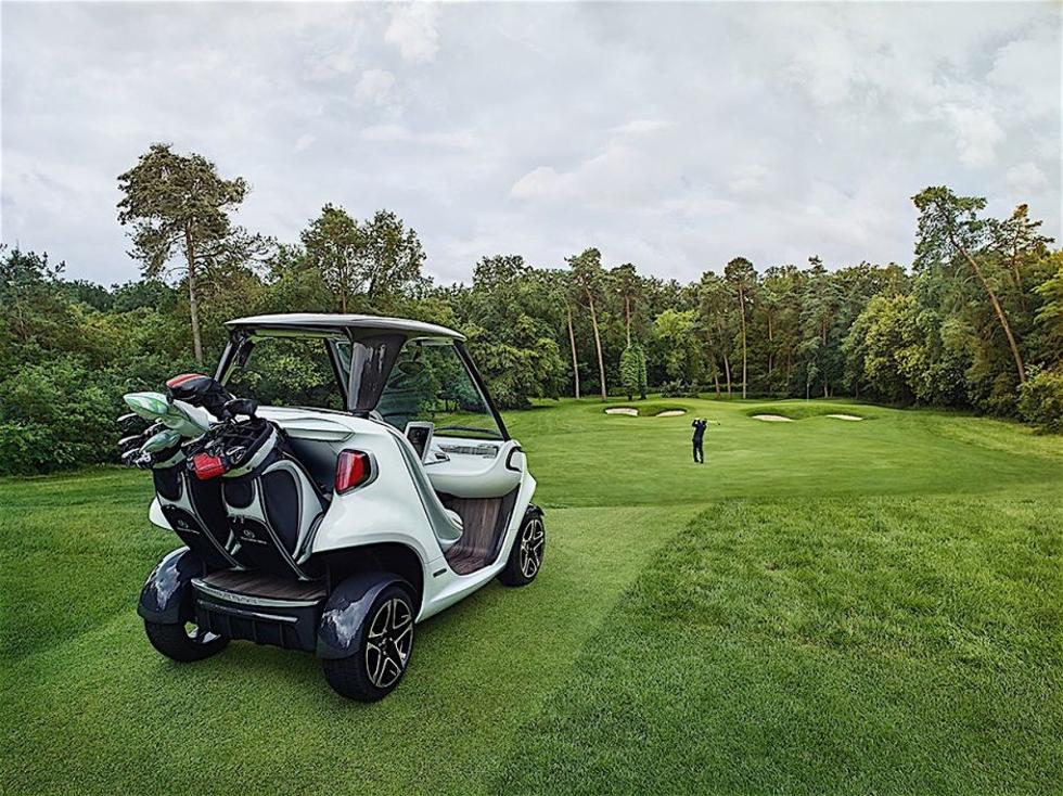Mercedes lança carro de golfe luxuoso em parceria com Garia (Foto: Divulgação)