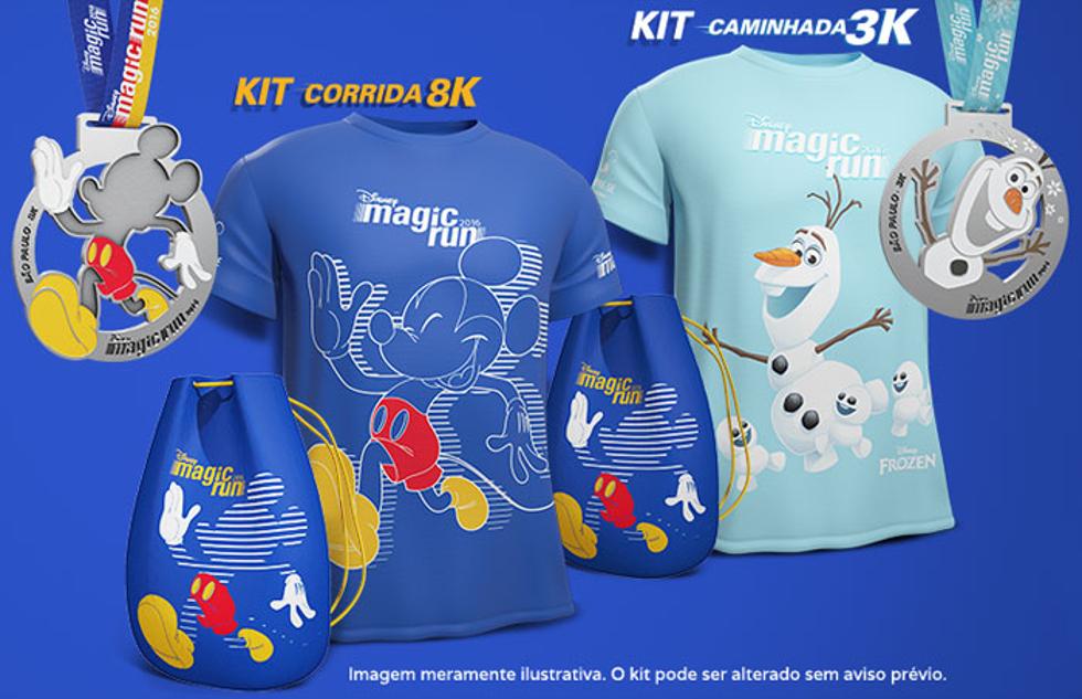 Camisas terão estampa temática do boneco de neve Olaf e Mickey (Foto: Divulgação)
