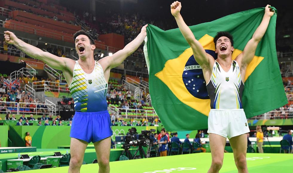 Diego Hypolito e Arthur Nory (Foto: Divulgação)
