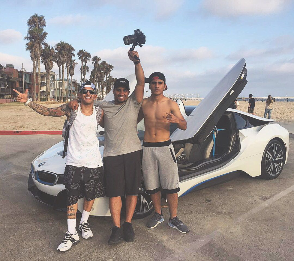 Mc grava novo clip em Los Angeles (Foto: Divulgação)