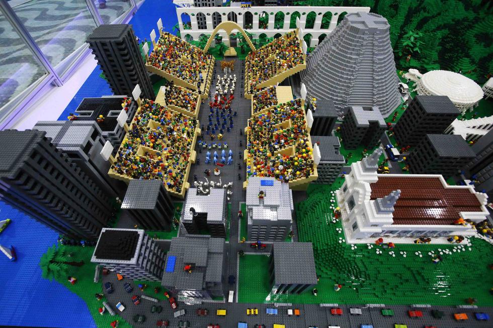 Maquete reúne cerca de um milhão de peças (Foto: Divulgação)