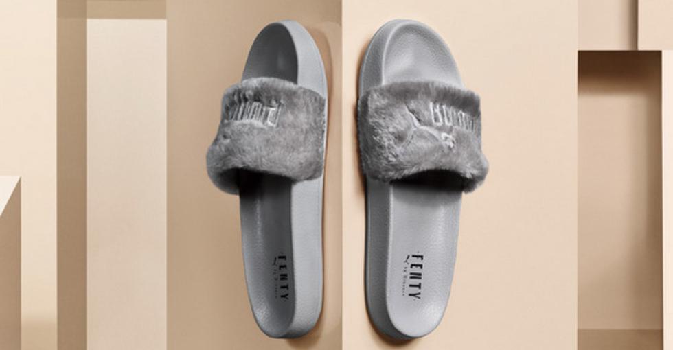 """""""Slide"""" na cor cinza pode ser adquirido no site oficial da Puma a partir desta sexta-feira (Foto: Divulgação)"""