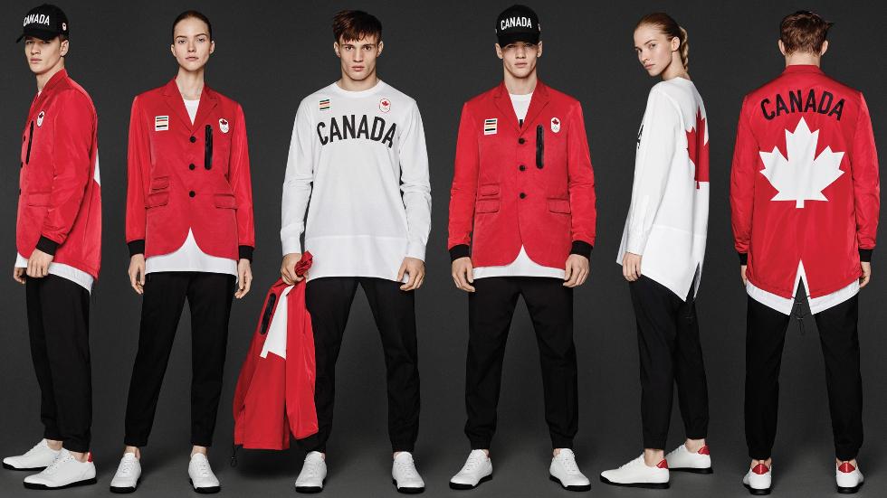 Uniforme Canadá, criado pelos gêmeos canadenses Dan e Dean Caten (Foto: Divulgação)