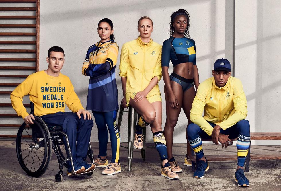 Uniforme Suécia, criado pela rede de fast food sueca H&M (Foto: Divulgação)