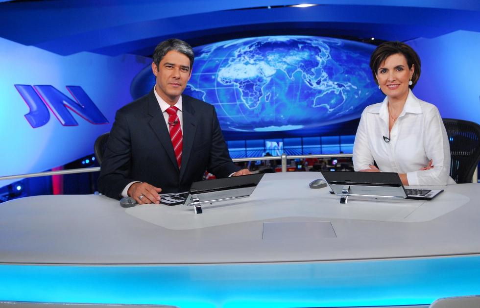 William Bonner e Fátima Bernardes no Jornal Nacional (Foto: Divulgação)
