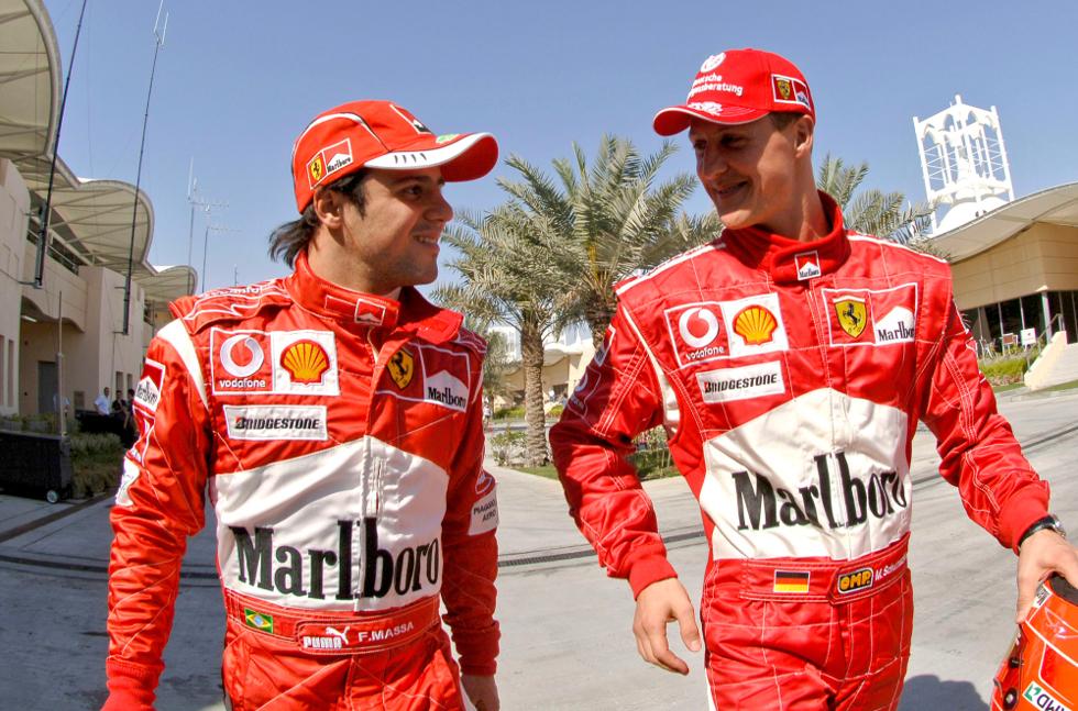 Massa e Schumacher (Foto: Divulgação)