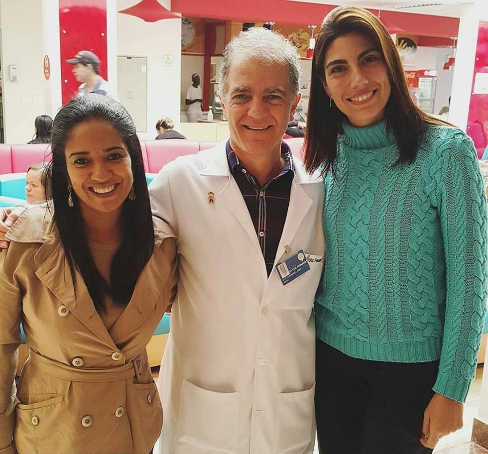 Dr. Luiz, Lili e Raquel Abdu (Foto: Divulgação)