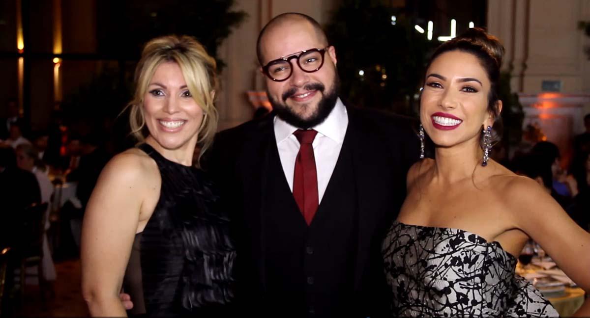 Alexandra Almeida, Tiago Abravanel e Patricia Abravanel (Foto: ClaCri)