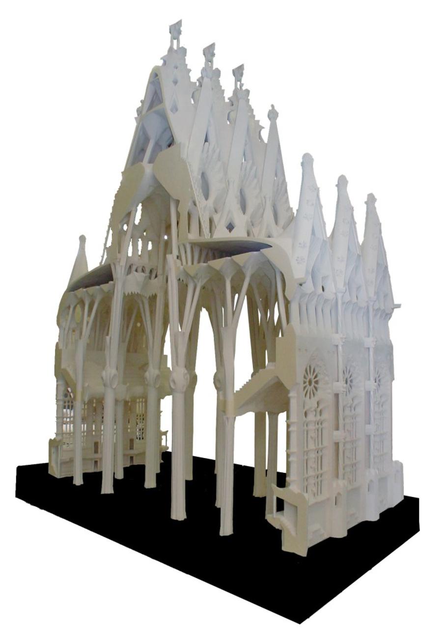 Maquete das navas da Basílica da Sagrada Família (Foto: Divulgação)
