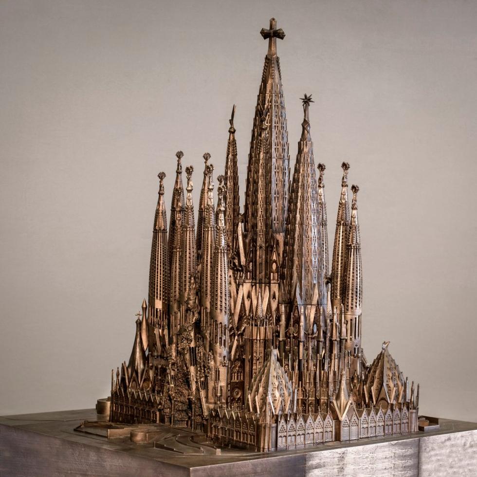 Maquete do conjunto da Basílica Sagrada Família (Foto: Divulgação)