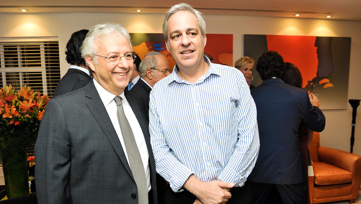 Mauricio Wajngarten e Alexandre Schneider (Foto: Paulo Freitas/Reprodução)
