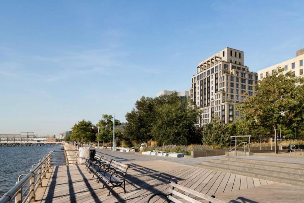 Empreendimento oferece acesso às atividades de lazer ao logo do rio Hudson (Foto: Divulgação)
