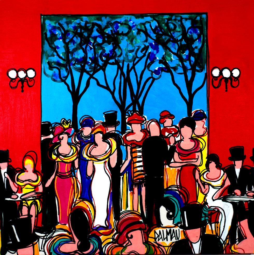 Festa Francesa 110 x 110 cm/ acrílica sobre tela - David Dalmau (Foto: Divulgação)