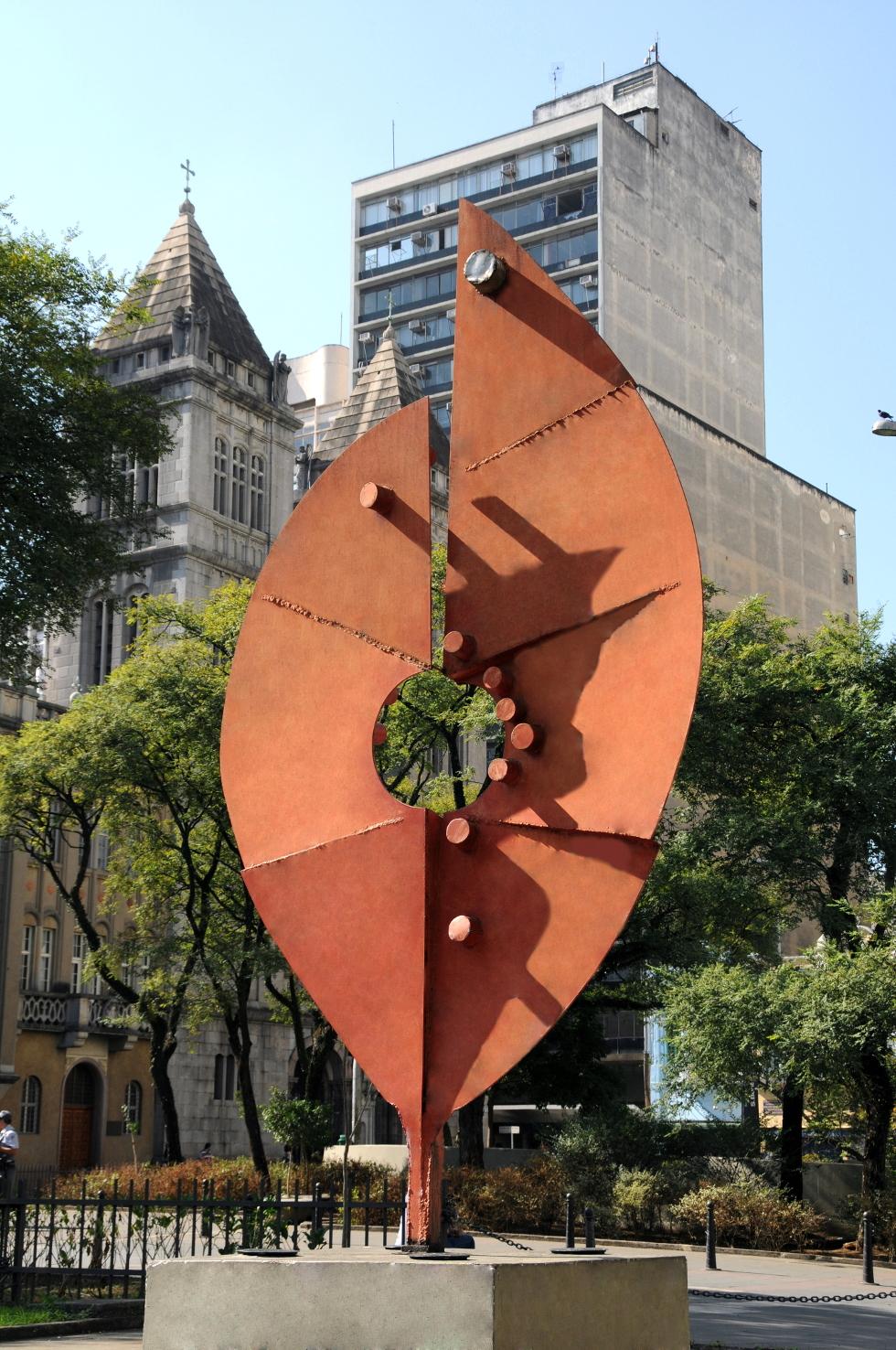 Folha Vermelha 300 x 120 cm metal - Caciporé (Foto: Divulgação)