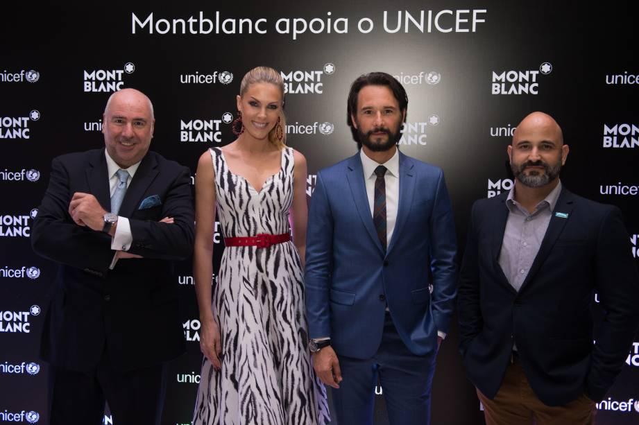 Alain dos Santos, Ana Hickmann, Rodrigo Santoro e Ítalo Dutra (Foto: Reprodução)
